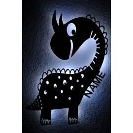Dino Spielzeug Tier LED ,Dinosaurier personalisiert mit Wunsch Namen Lasergravur