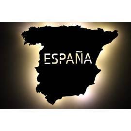 España Spanien personalisiert mit Wunschtext Spain Lasergravur LED Schlummerlicht