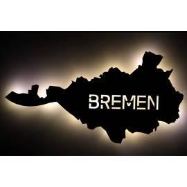 """LED Schlummerlicht """"Bremen"""" personalisiert mit Wunschtext -Lasergravur"""
