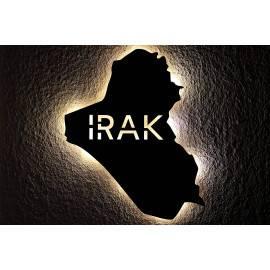 Irak personalisiert mit Wunschtext العراق Lasergravur Led - Iraq Schlummerlicht