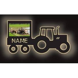deko Schlummerlicht Traktor mit Bilderrahmen für dein Foto Led Traki Nachtlicht personalisiert mit Wunschnamen
