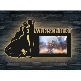Schlummerlicht Brautpaar personalisierte Bilderrahmen 10x15 cm Wunschname Liebesbeweis